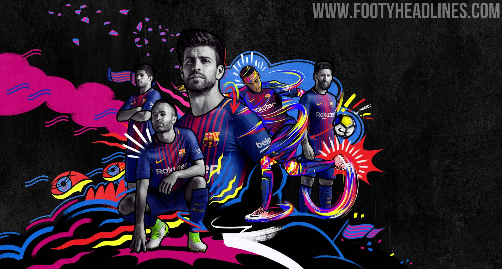 Barcelona 17 18 Home Kit Released   Footy Headlines 1600x859