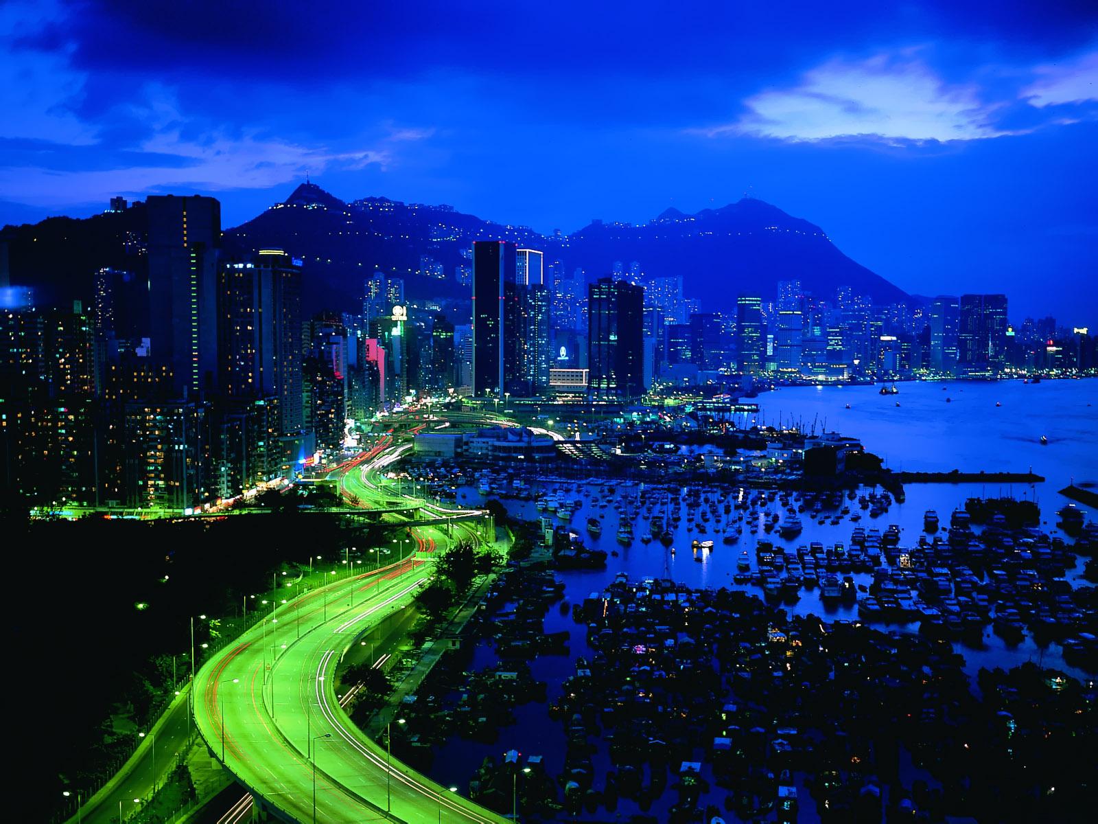 Night City Lights   HD Wallpapers Hd Desktop Wallpaper 1600x1200
