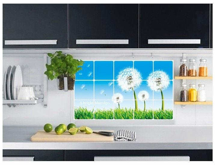 fashion dandelion kitchen oil stickers elegant kitchen backsplash 715x551