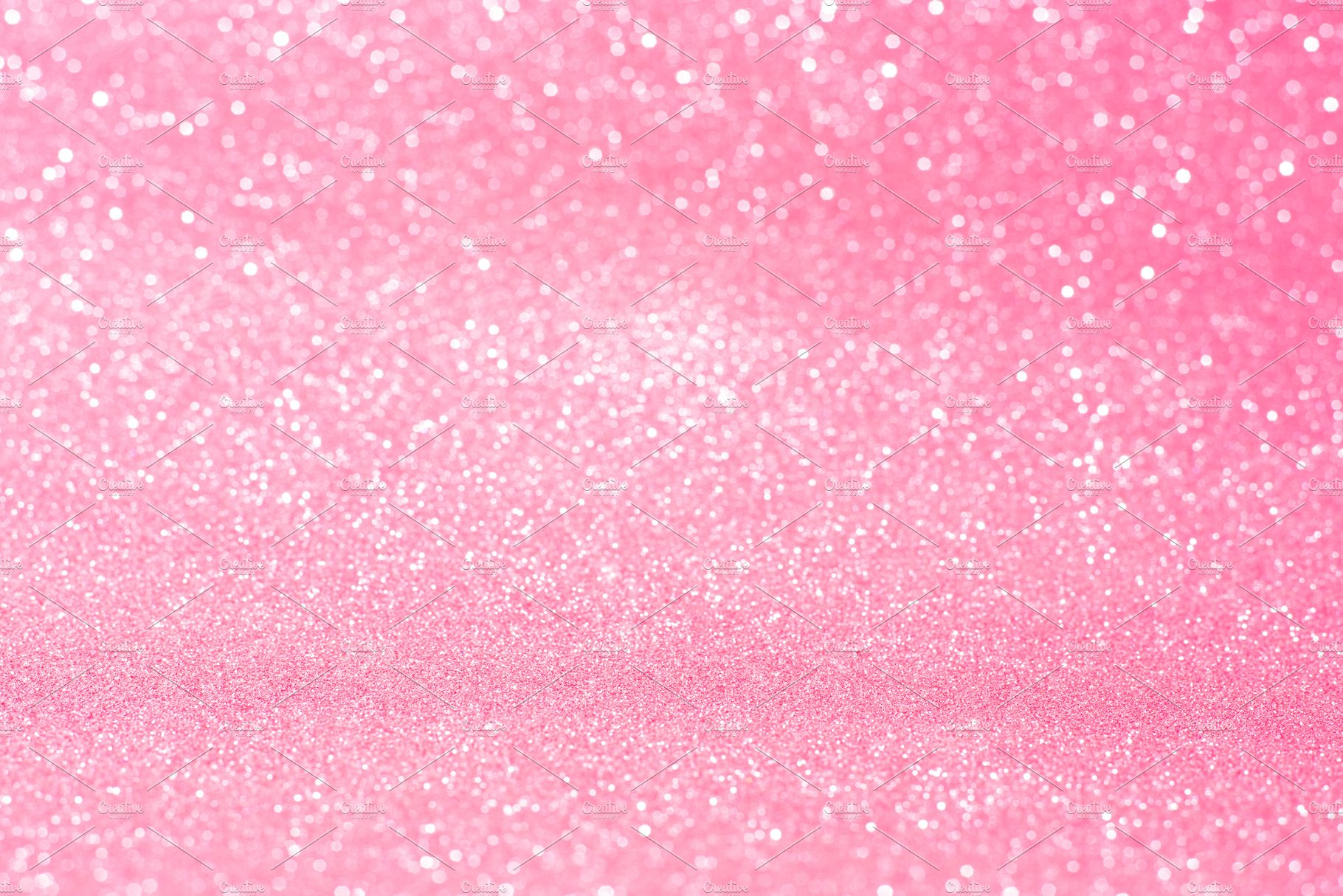 Horizontal pink glitter background w High Quality Abstract Stock