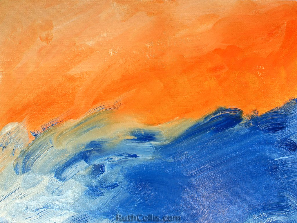 Orange Blue Abstract Wallpaper   wwwRuthColliscom 1024x768