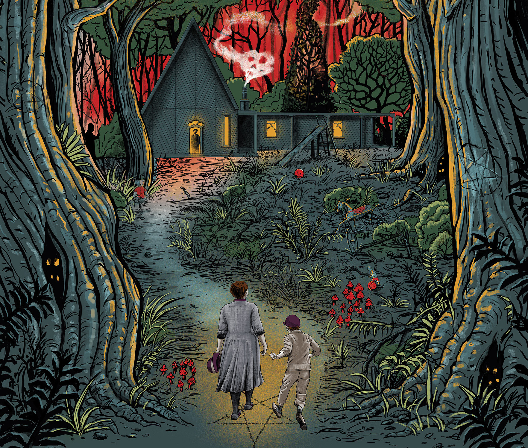 Gretel Hansel Poster from Gary Pullin Reveals the Creepy Forest 1764x1497