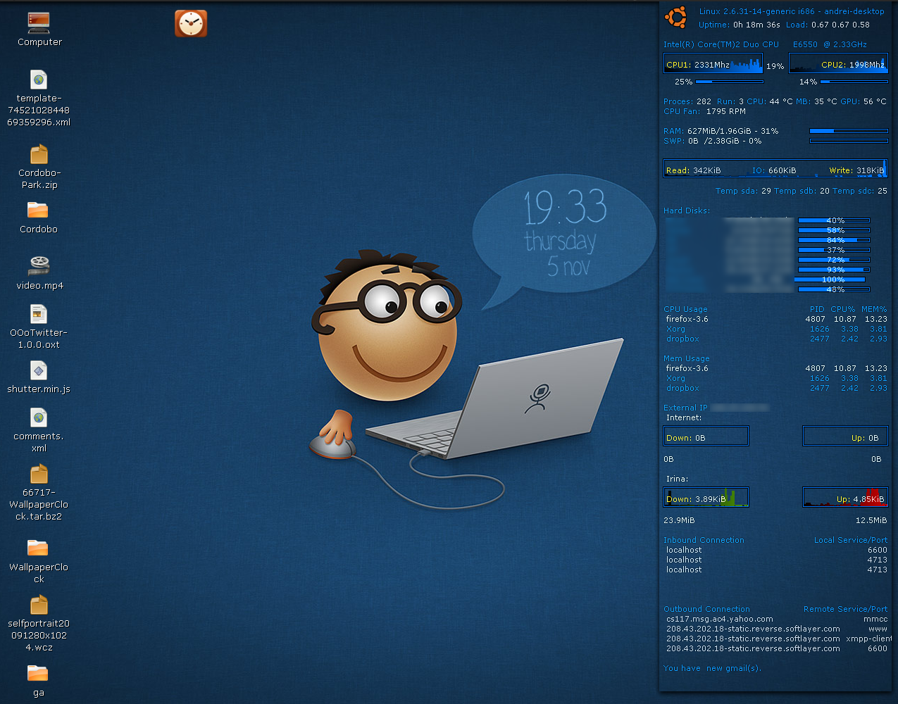 Linux Unix Install Wallpaper Clocks In Ubuntu Linux 1275x1000
