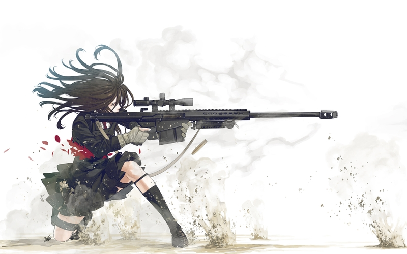 anime girlssniper rifle sniper rifle anime girls 3840x2400 wallpaper 800x500