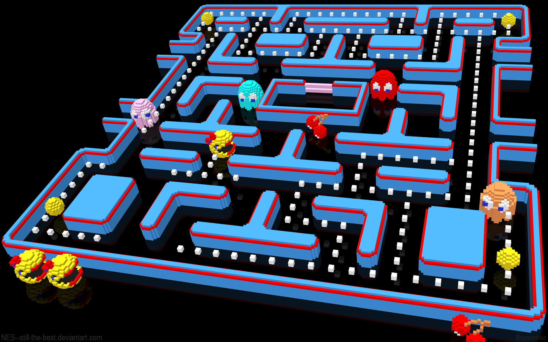 Ms Pac Man by NES  still the best 1920x1200