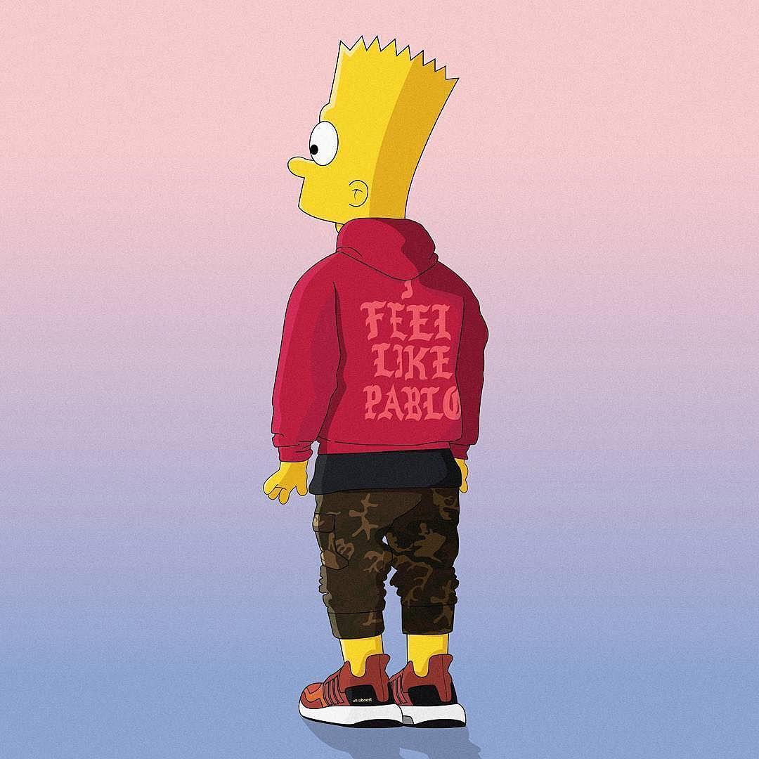 hypeAF we feel like Bart Illustration machonis by 1080x1080