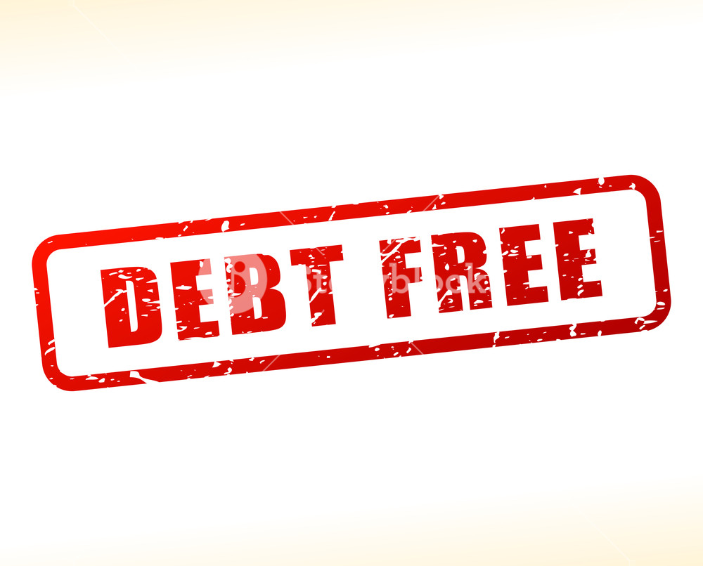 Illustration of debt text buffered on white background 1000x806
