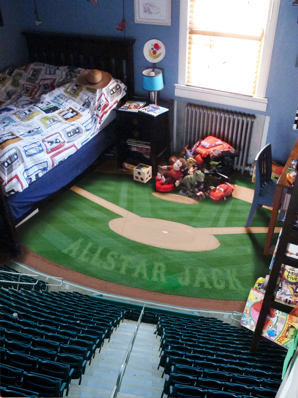 Baseball Field Wallpaper Mural This fully flat floor mural 1000x1333