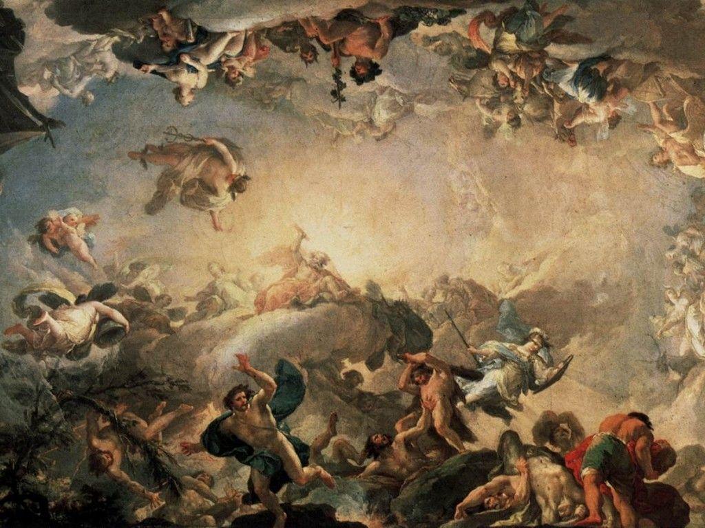 Olympus Wallpaper Olympus greek mythology francisco bayeu y 1024x768