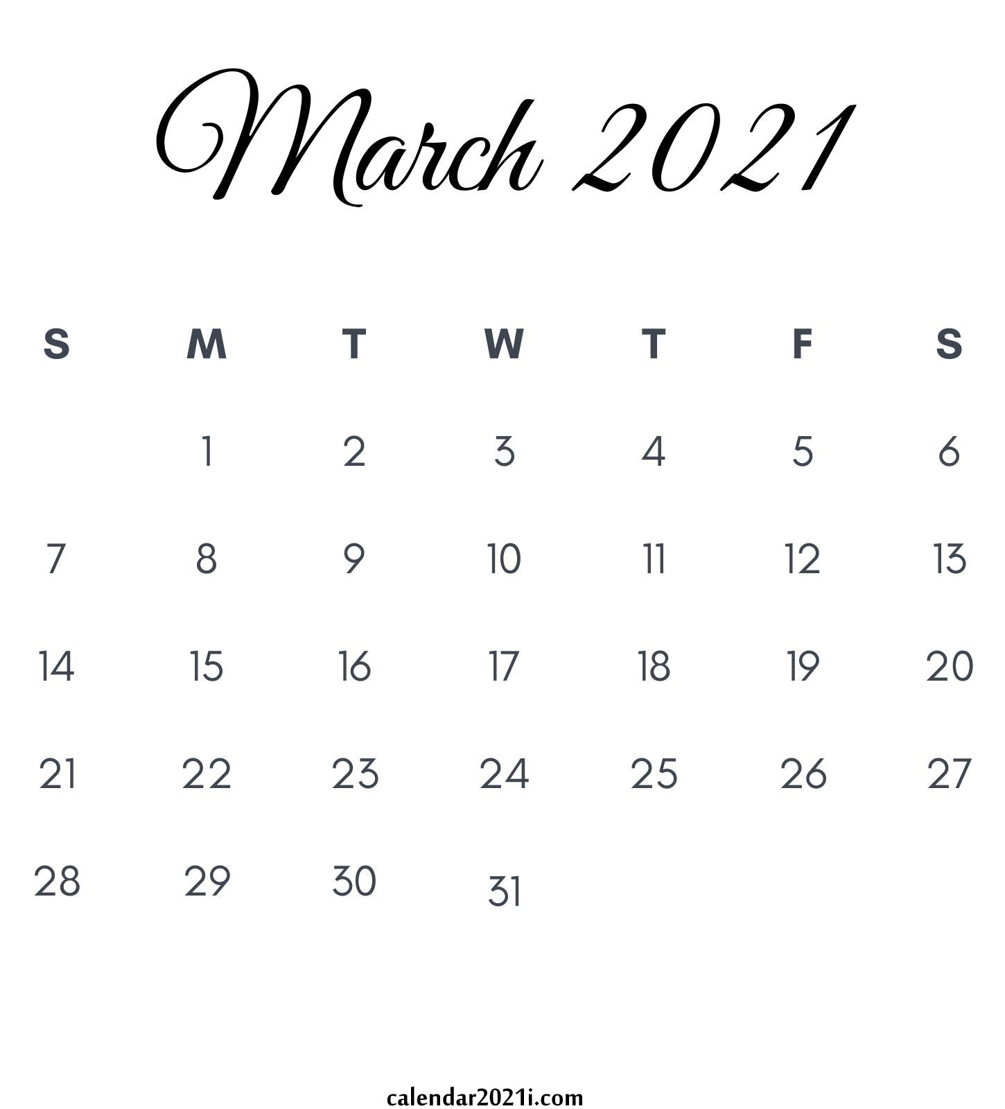 March 2021 Calendar Printable Floral Holidays Wallpaper 1450x1600