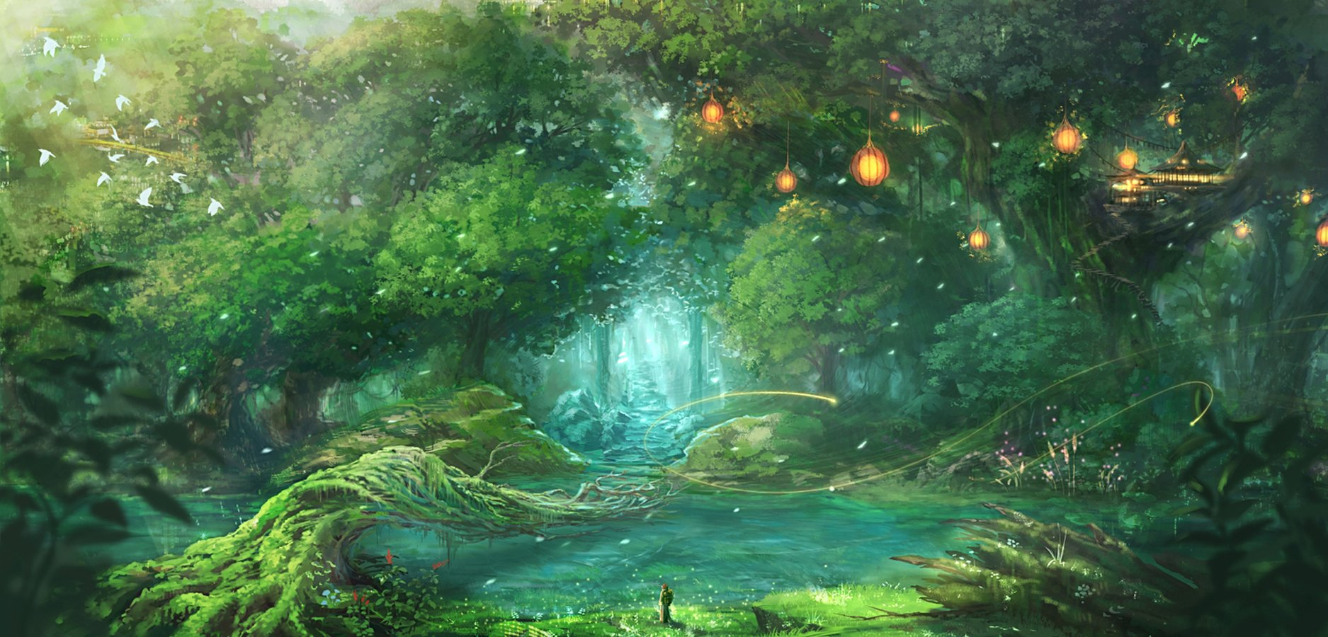 73 Anime Forest Background On Wallpapersafari