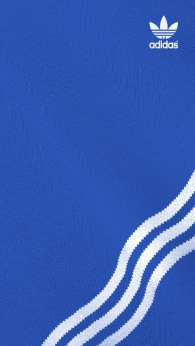 Blue Adidas iPhone Wallpaper 640x1136