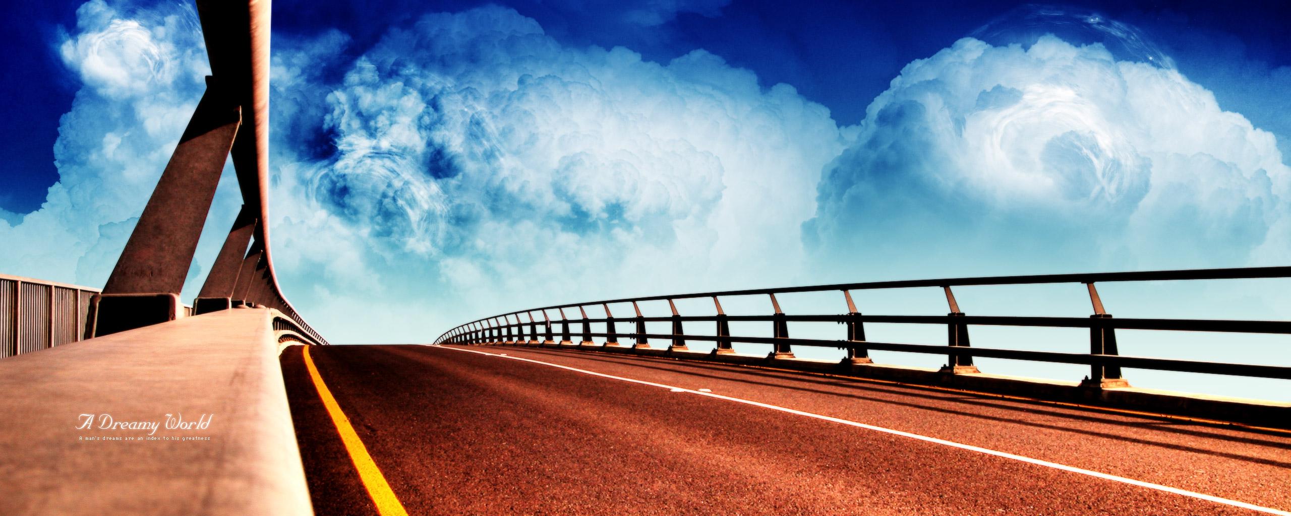 Drive Bridge Wallpapers Perfect Drive Bridge Myspace Backgrounds 2560x1024