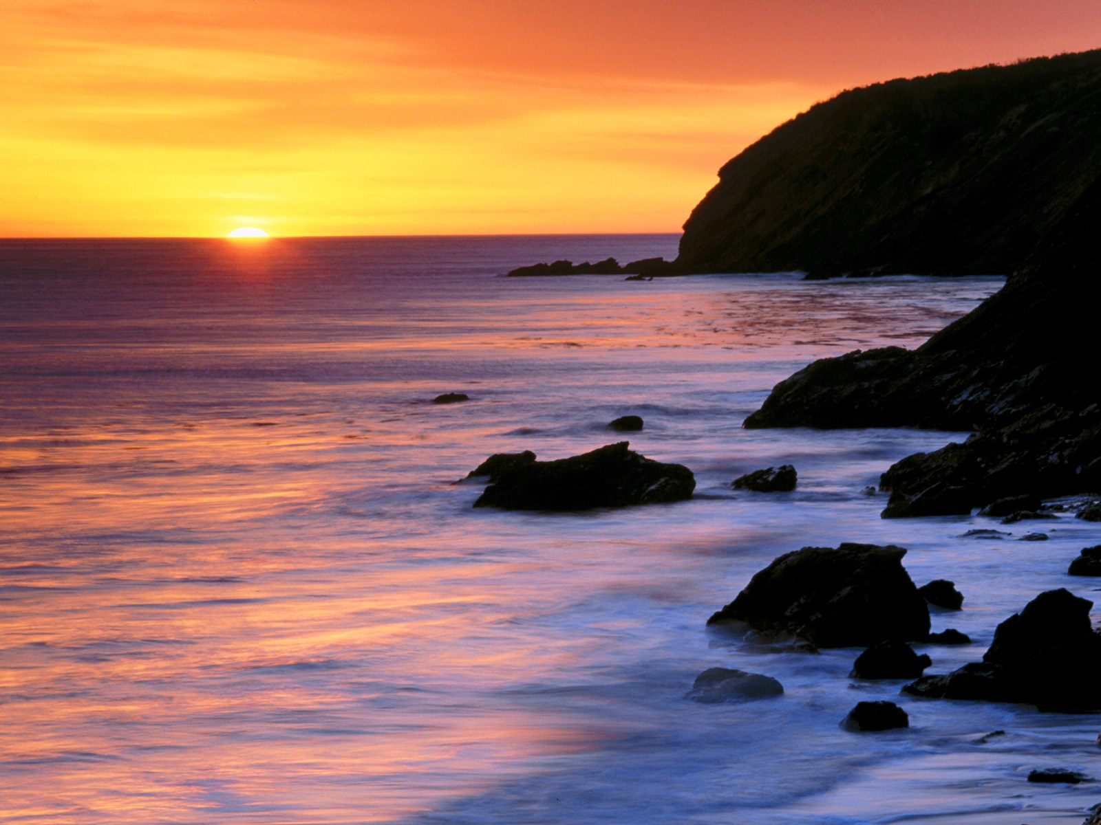 Sunset Desktop Backgrounds and Wallpaper   Pacific Sunset Gaviota 1600x1200