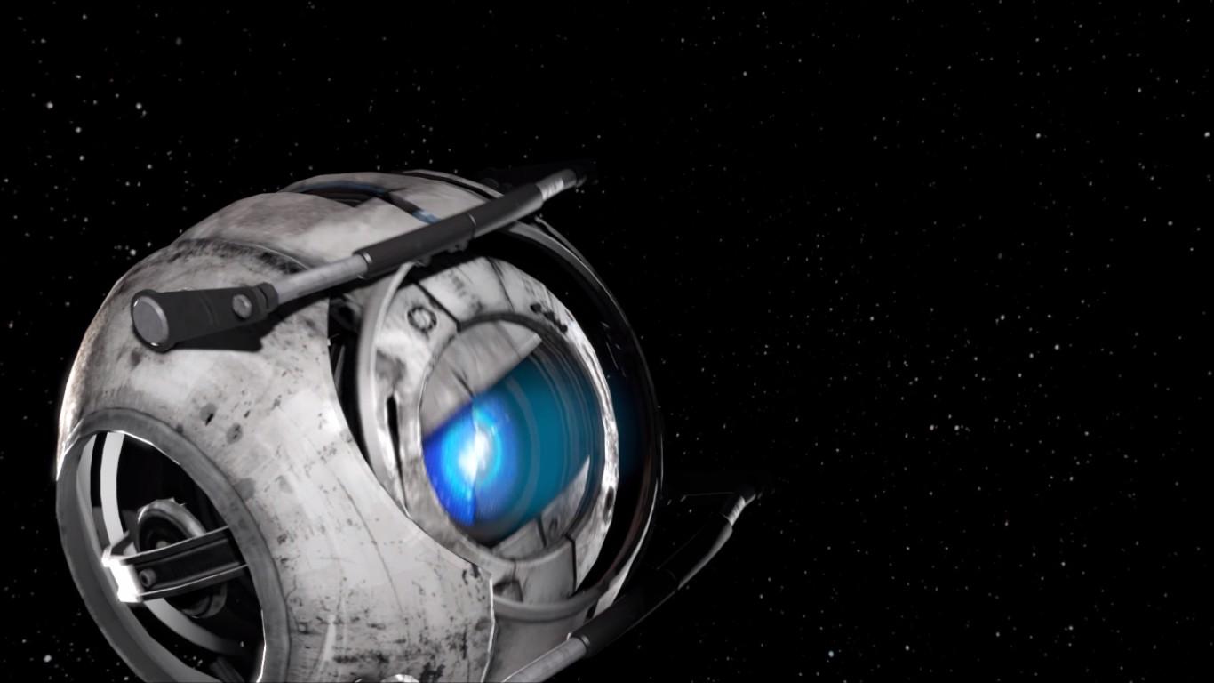 Portal 2 Wallpaper Hd Turret Portal 2 wallpaper 1366x768