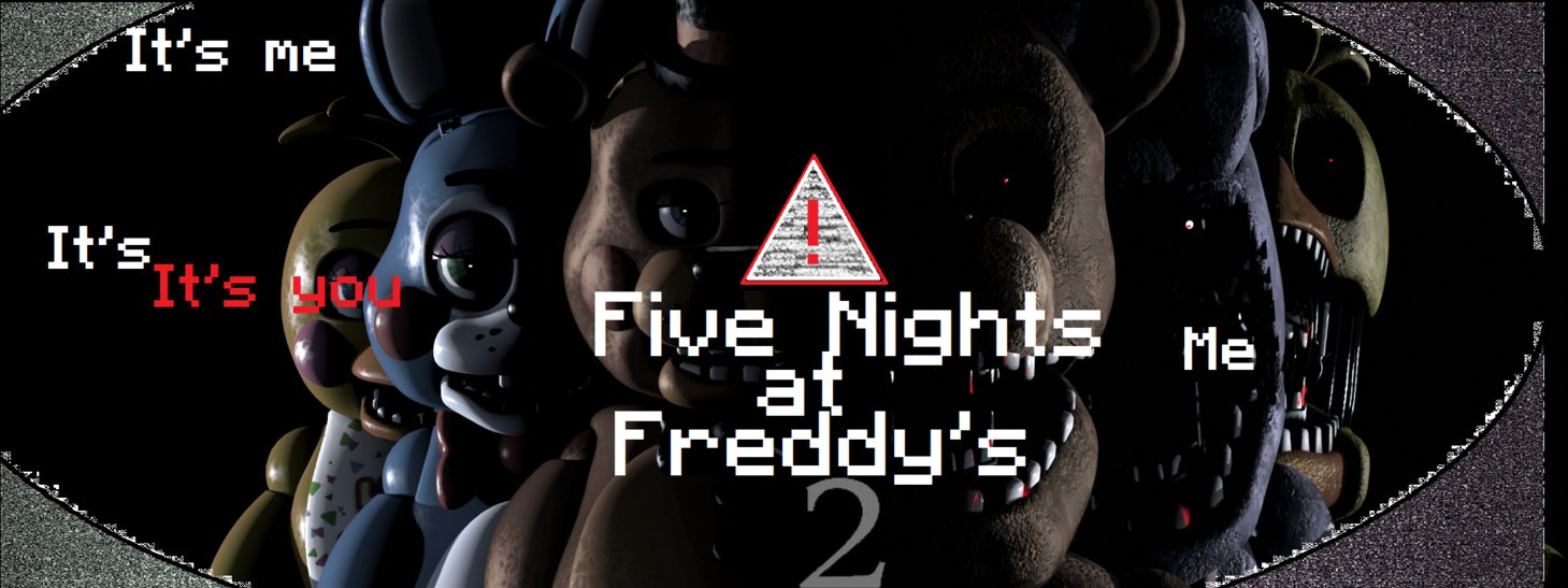FNAF 2 WALLPAPER by HypeAnimationsMC 1459x547