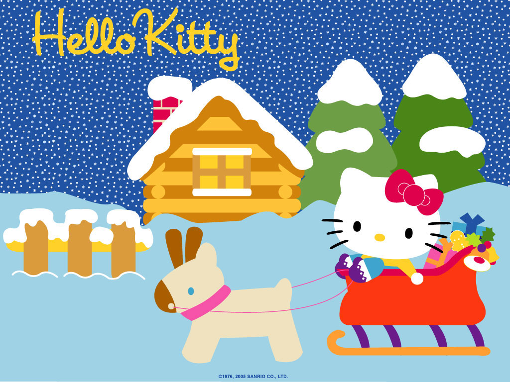 Hello Kitty Skiing Wallpapers Hello Kitty Wallpapers 1024x768