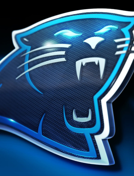 Carolina Panthers Glowing Wallpaper for Phones and Tablets 450x590
