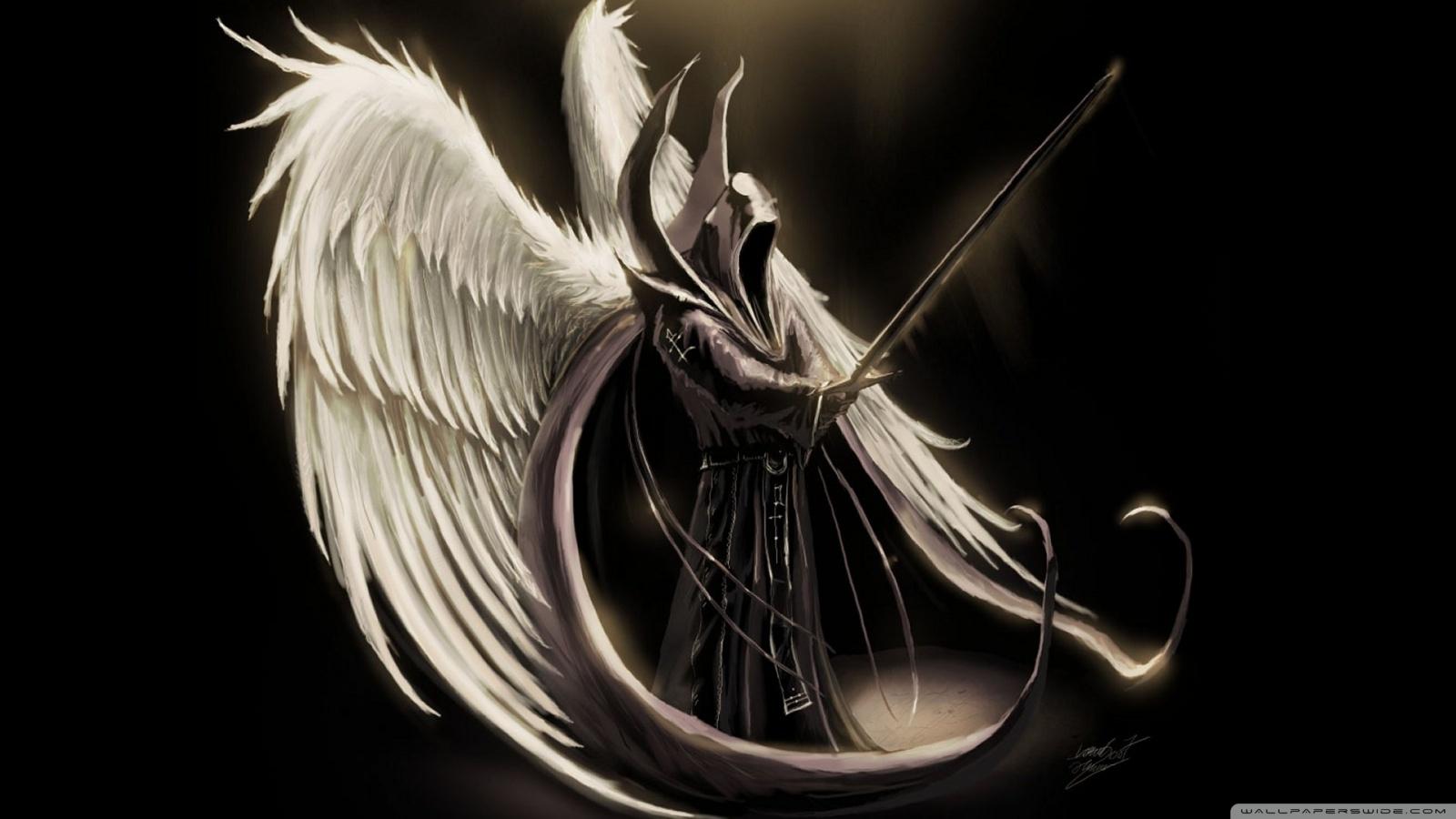 fallen angel art wallpaper 1600x900 1600x900