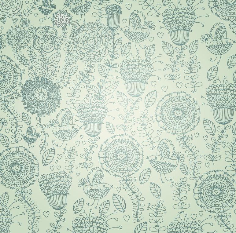 Vintage Floral Prints Background Vintage Floral Background 772x763