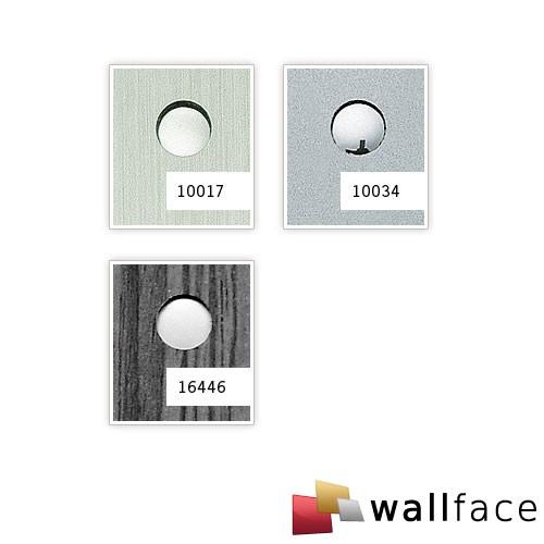 Wallface 10017 3D Drop Design Sheet Round Hole Decor Metal Grey Silver 500x500