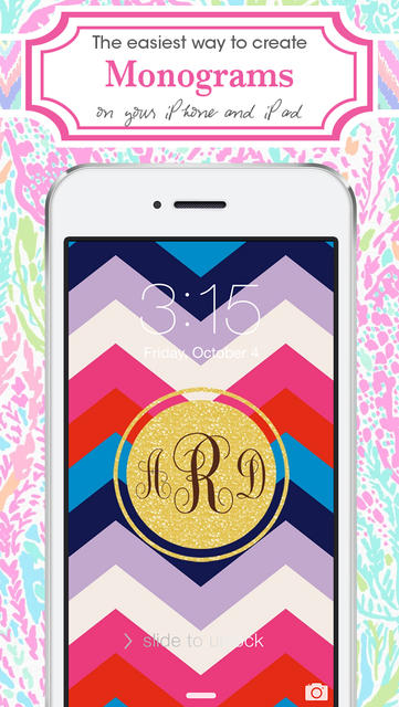 Monogram Lite   Wallpaper Backgrounds Maker HD with Christmas 361x640