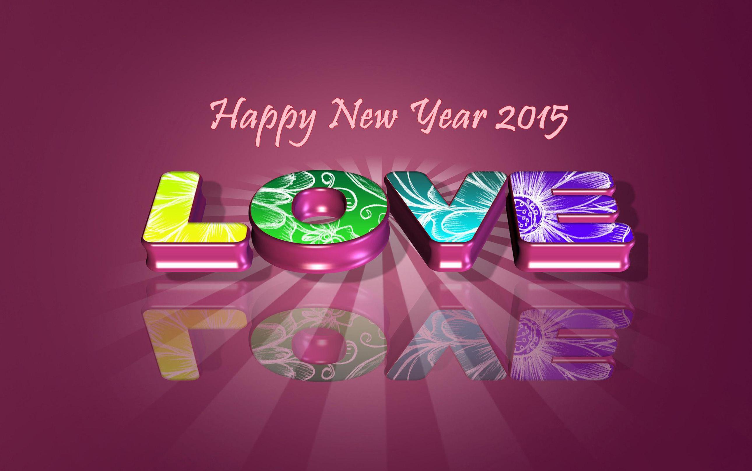 love happy new year 2015 wallpaper 2580x1615