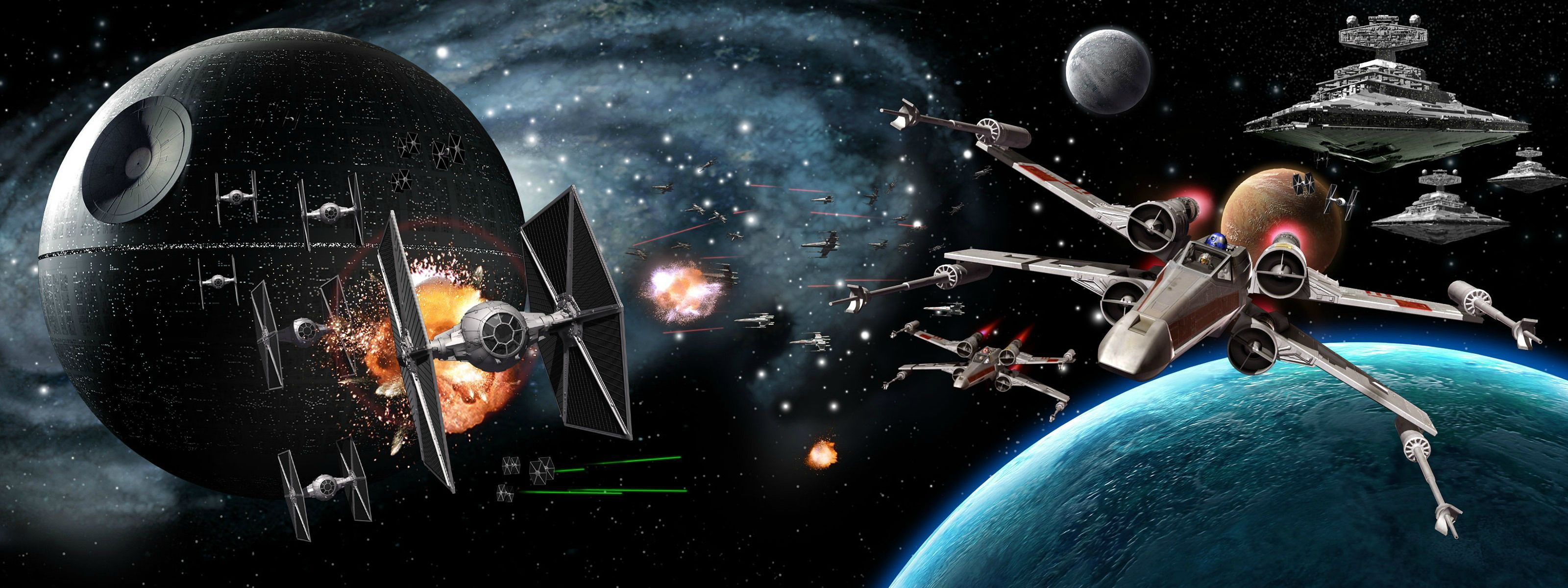 Dual screen backgrounds Star Wars Star wars wallpaper Star 3200x1200