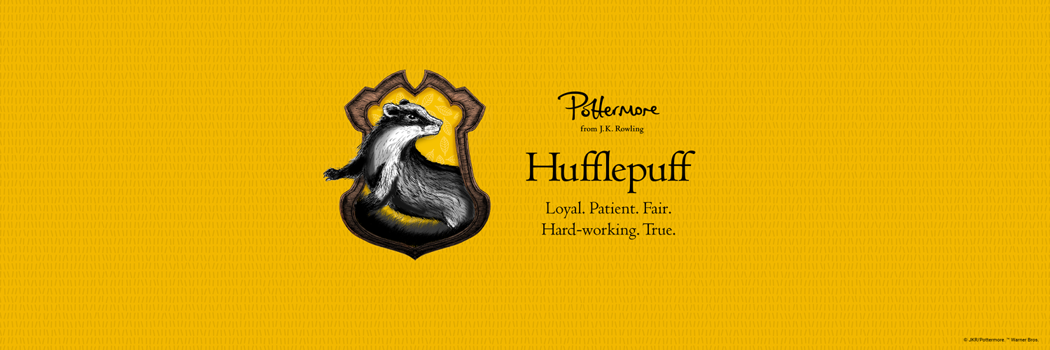 Hufflepuff   Loyal Patient Fair Hard working True Houses 1500x500
