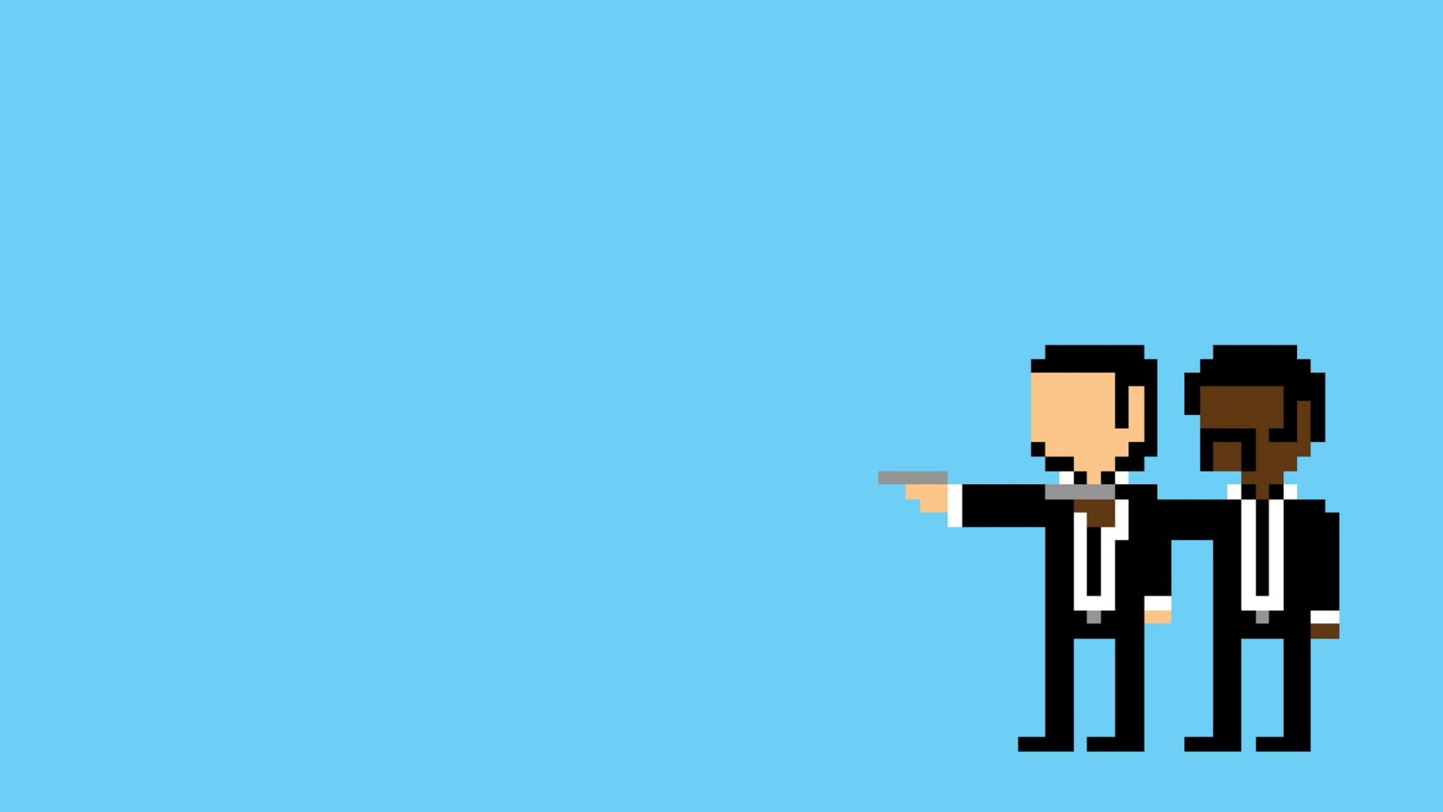 Wallpaper 2048x1152 Pulp pixel People Minimalism Pulp fiction HD HD 2048x1152