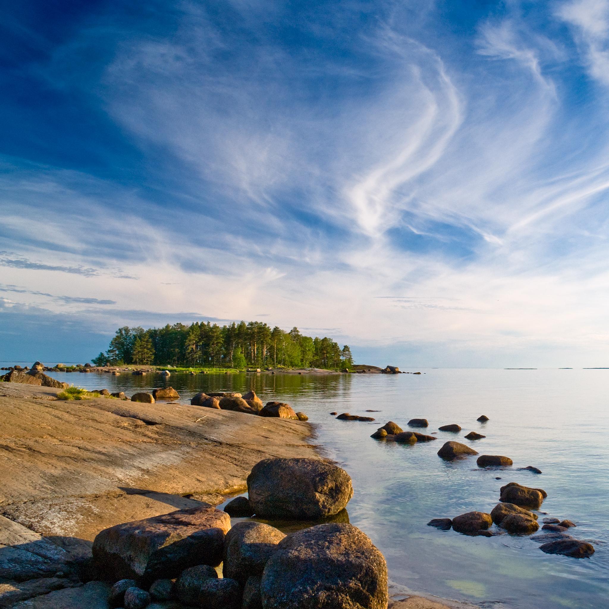 Retina wallpaper new iPad Beach with rocks