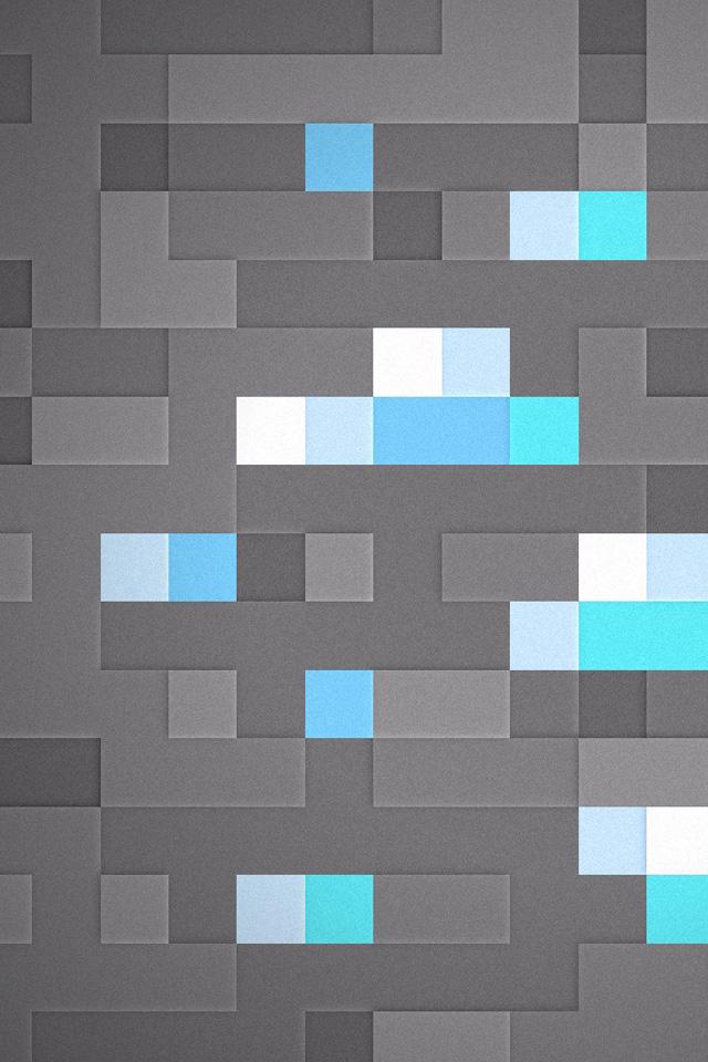 Minecraft Diamonds iPhone 4s Wallpaper Download iPhone Wallpapers 640x960