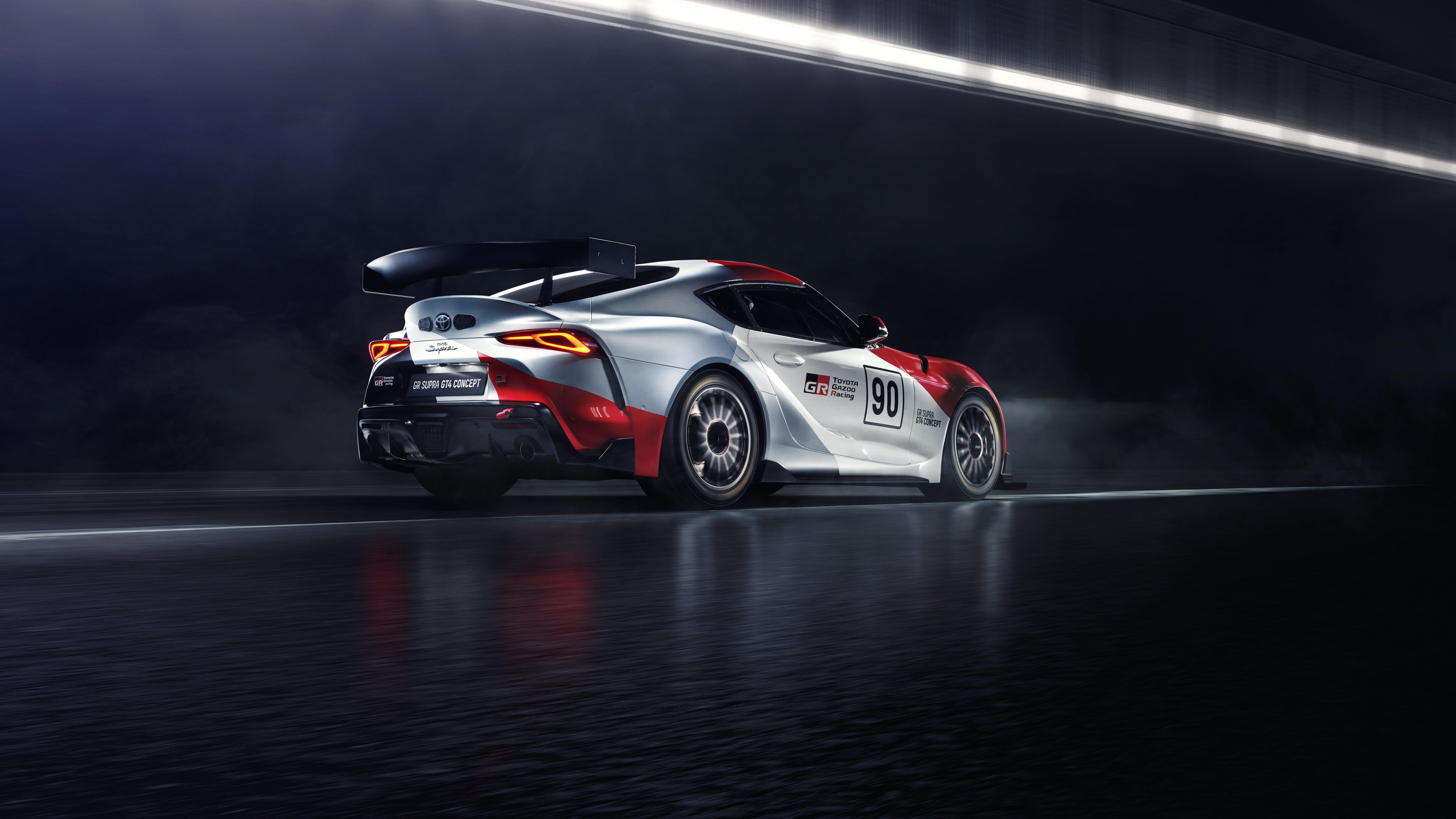Wallpaper Toyota GR Supra GT4 2019 Cars Geneva Motor Show 2019 7680x4320
