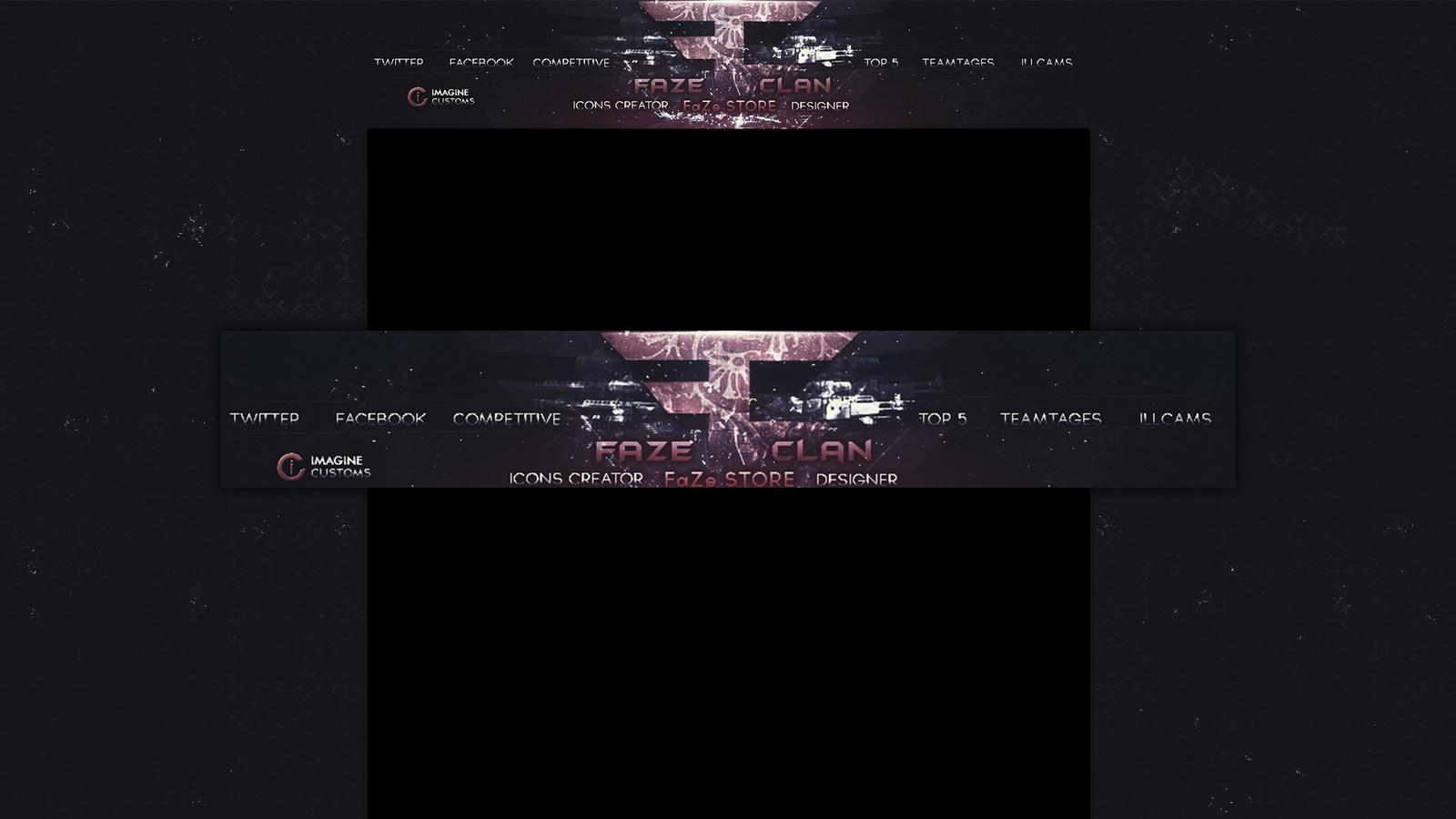 Faze Clan Logo Wallpaper Hd Faze clan youtube background 1600x900
