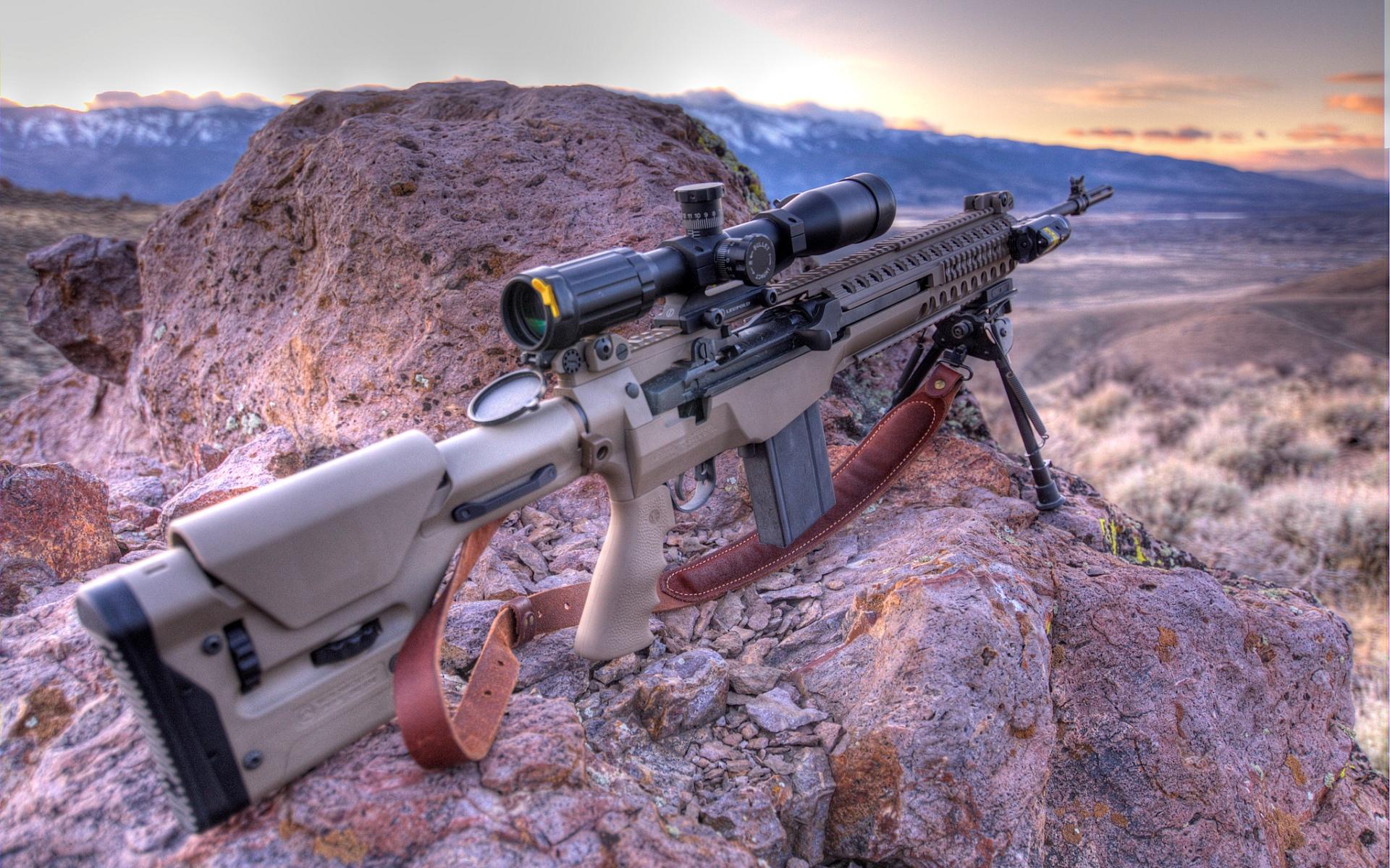 13 HD Sniper Rifle Guns Wallpapers 1920x1200
