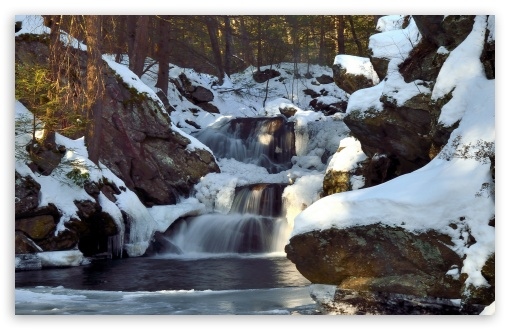 Waterfall Winter HD desktop wallpaper Widescreen High Definition 510x330