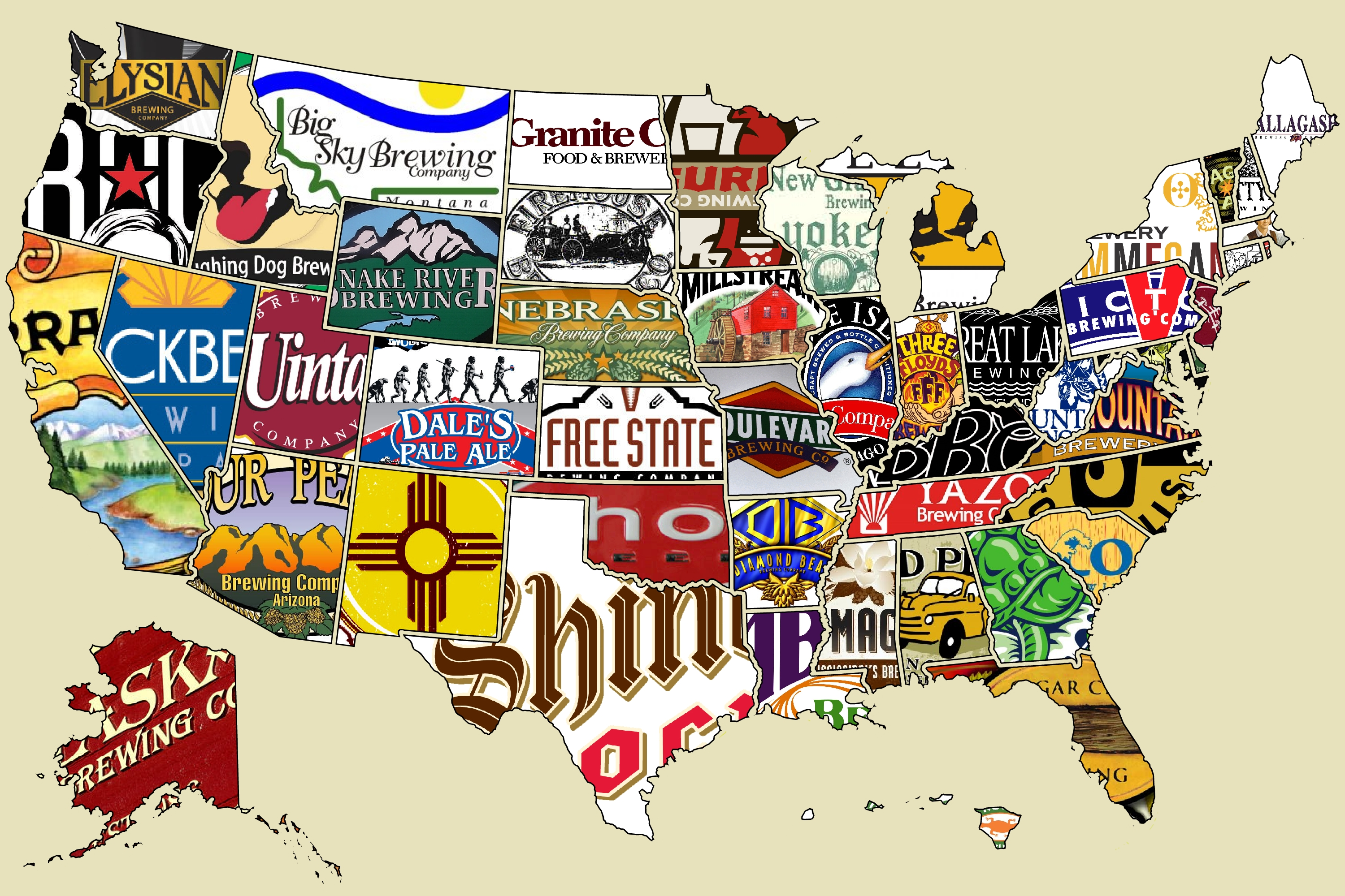 Which States Make The Most Popular Beer USA And World Beer Maps 3000x2000