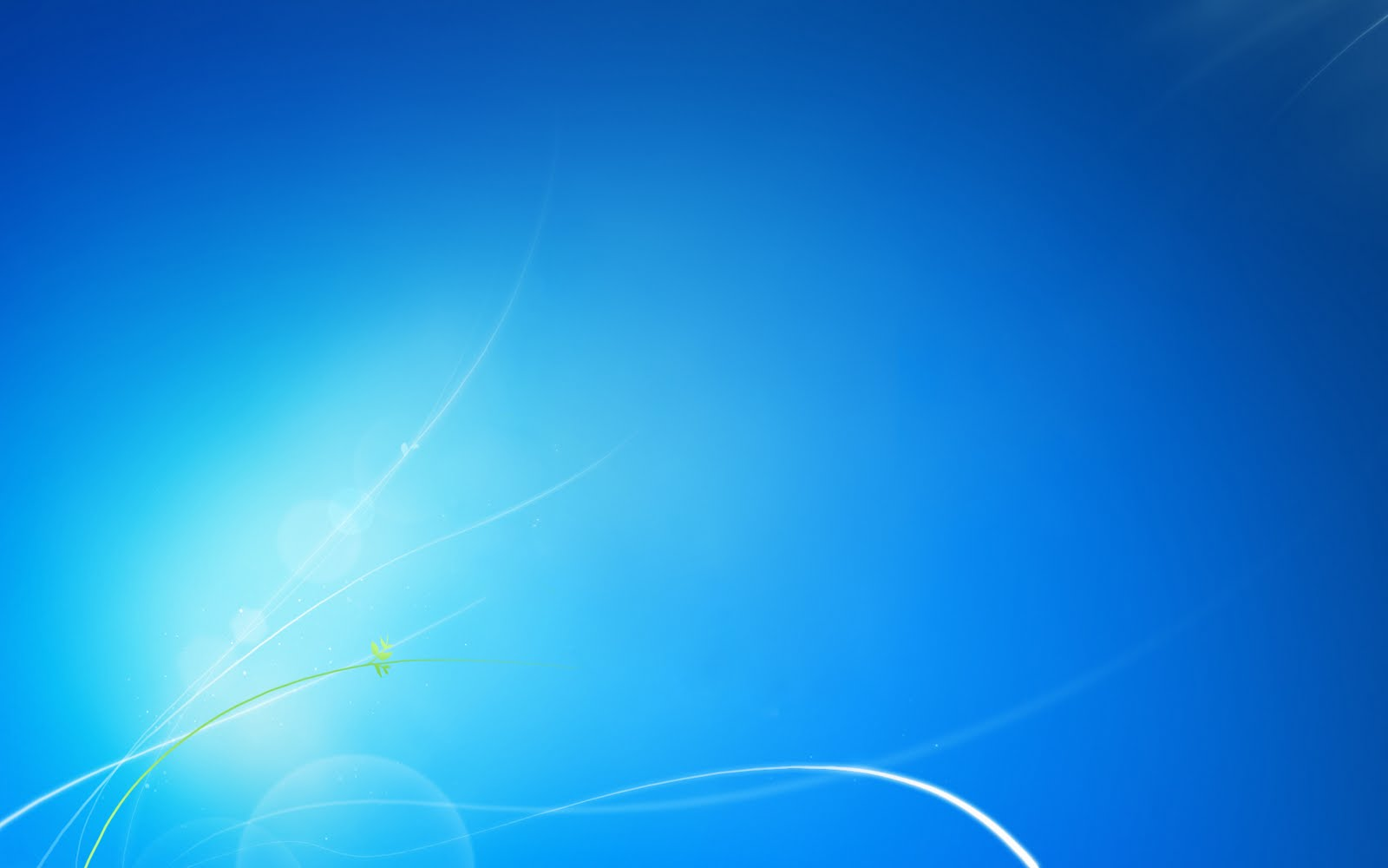 wallpaper Windows 7 No Logo Clean Blue HD Wallpapers 1600x1000