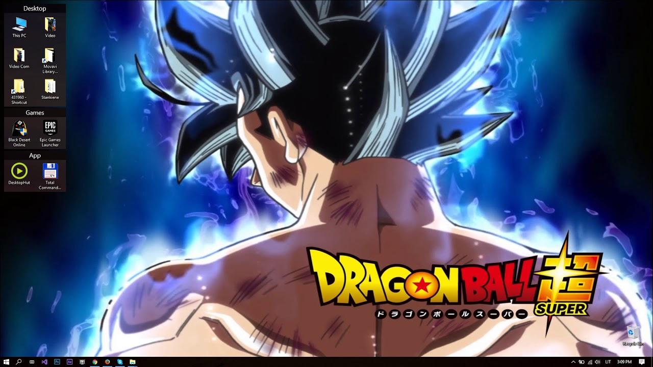 DBS Goku Ultra Instinct Form HD Live Wallpaper 1280x720