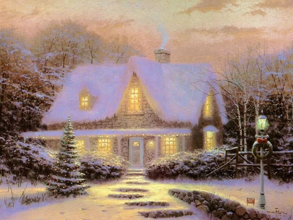Jami Burch winter scene wallpaper 1024x768