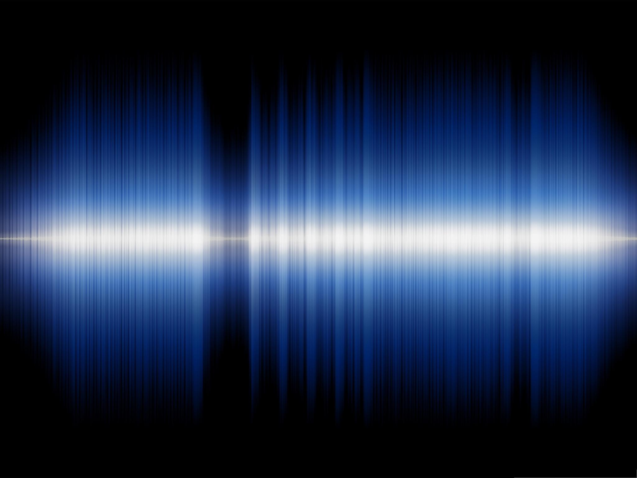 Wallpaper for Computer Audio Sound Wave on Dark Background 2048x1536