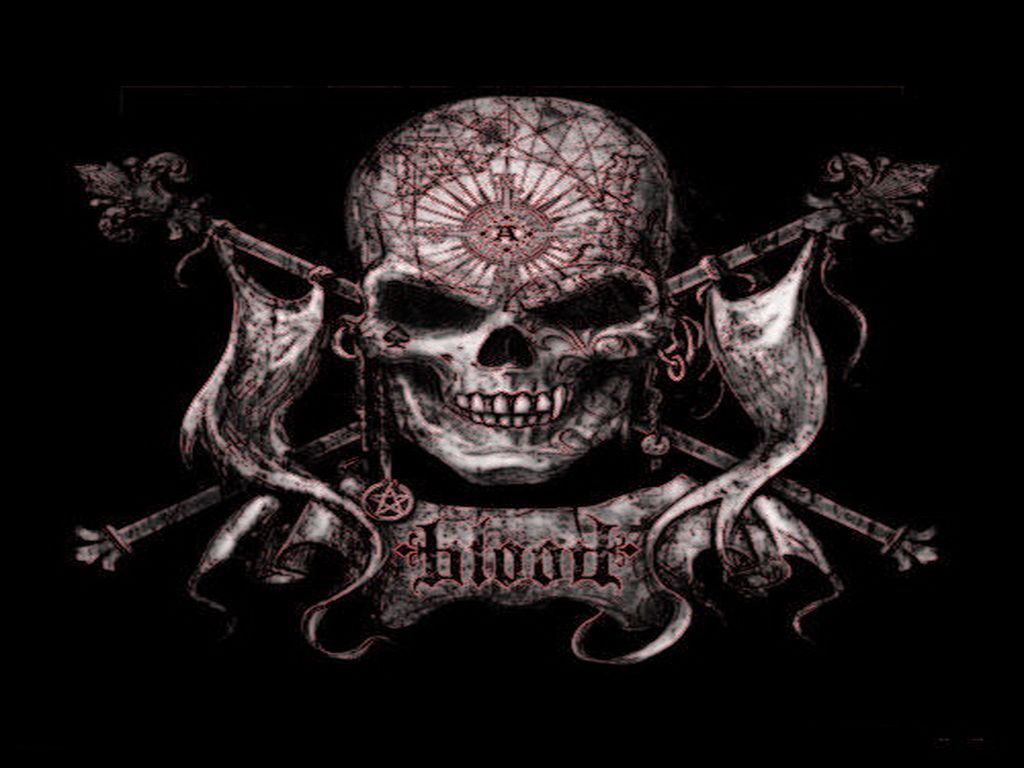 Skull Wallpaper 3D 1024x768
