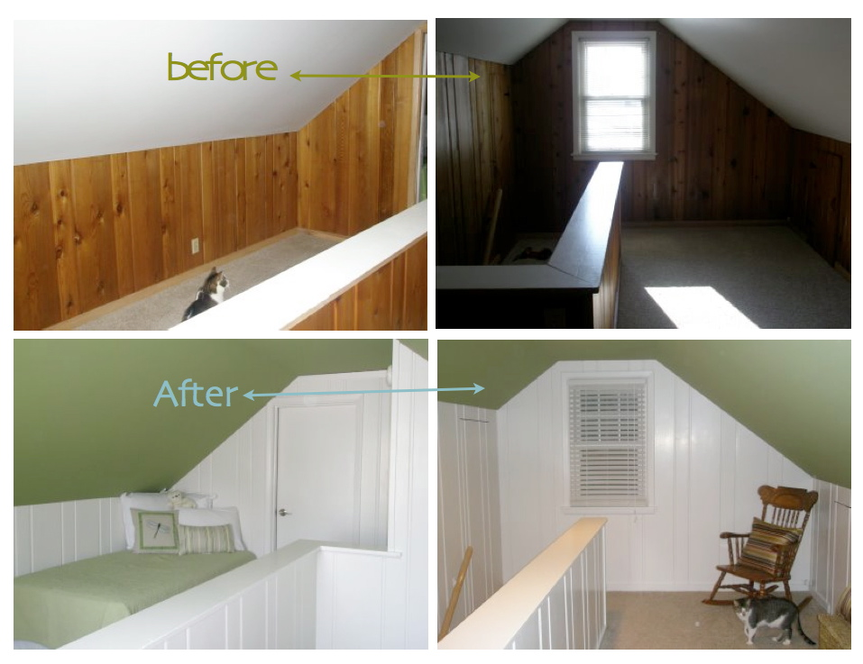The room above looks dramatically different in this beforeafter found 957x737