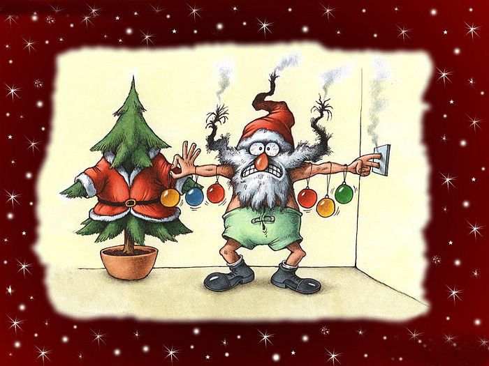 Christmas Desktop Wallpapers Funny Santa Wallpapers 700x525