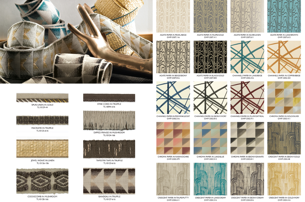 Kelly Wearstler wallpaper trims for Lee Jofa 980x650