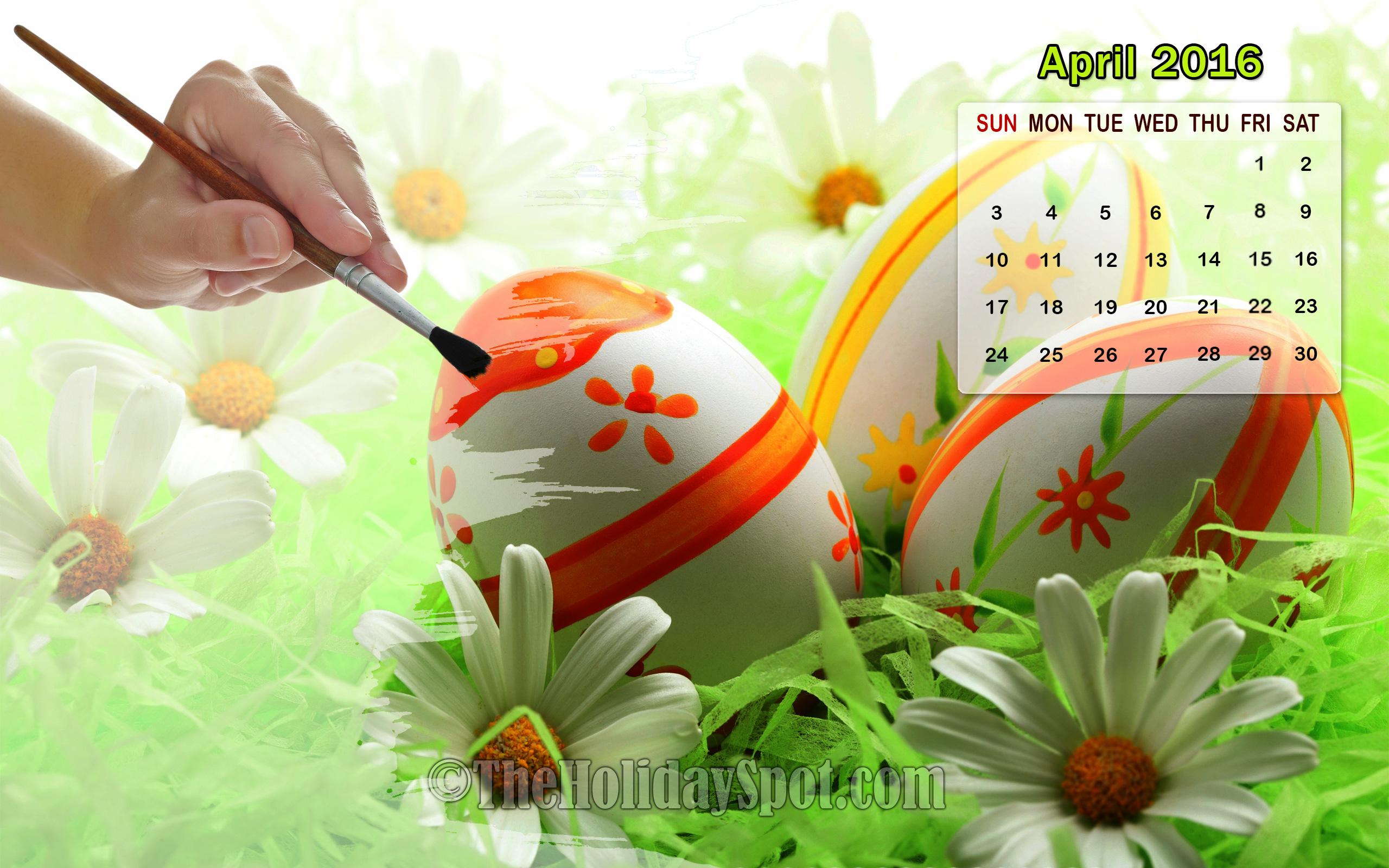 April 2016 Calendar Wallpaper Images 2560x1600