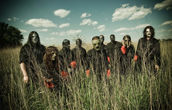 Wallpaper slipknot group team the sky in the background wallpapers 596x380