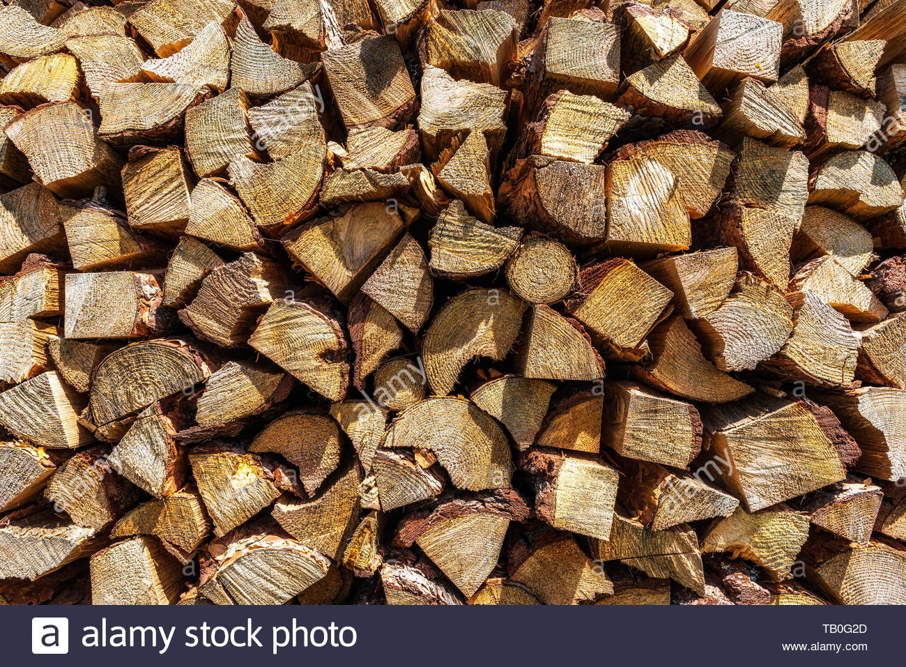 Wood pile reserve for the winter Logs of chopped firewood 1300x957