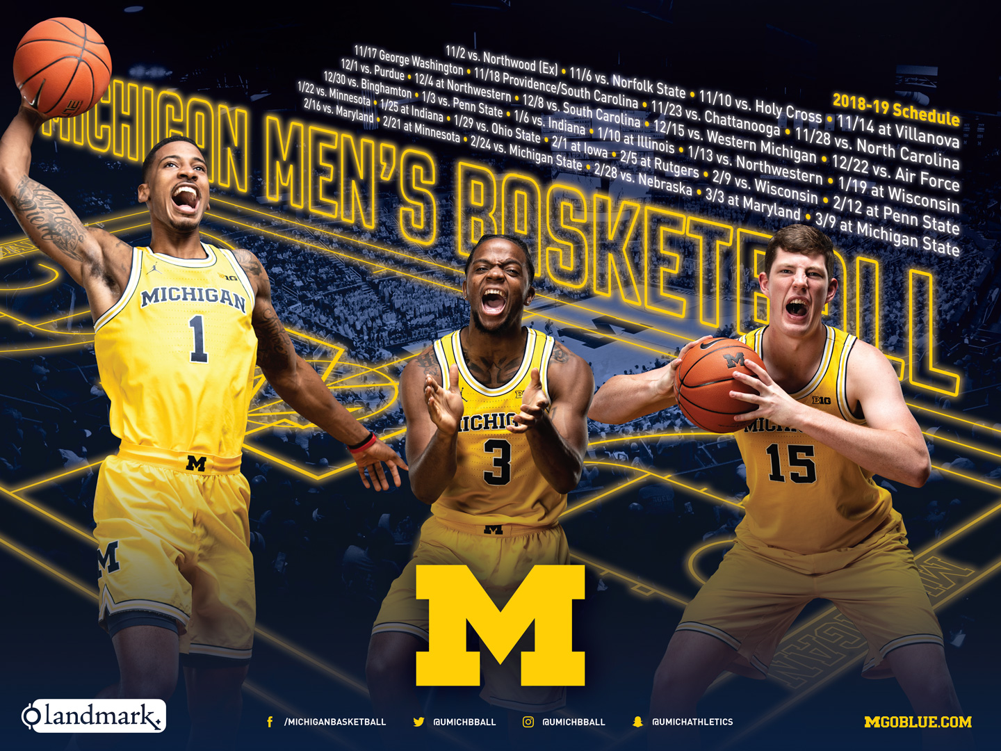 Free Download Michigan Athletics Sport Posters University Of