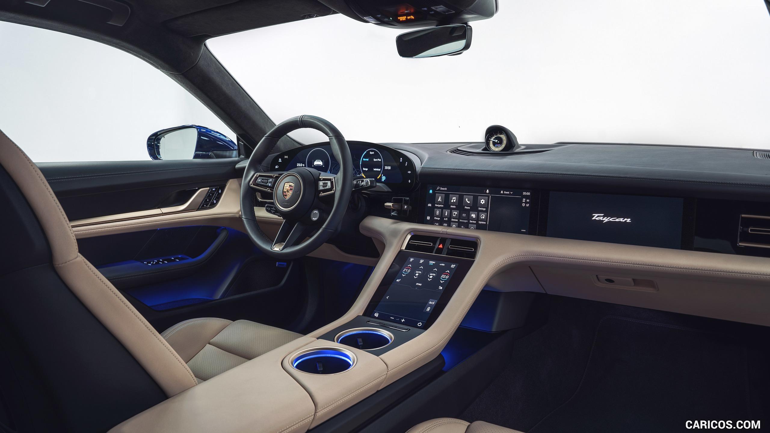 2020 Porsche Taycan Turbo   Interior HD Wallpaper 48 2560x1440